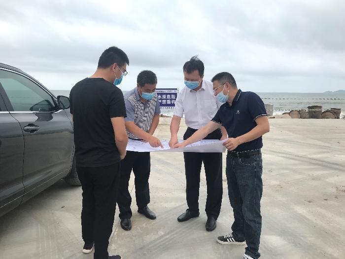 黄鹏同志带队调研吉达湾蓝色海湾整治项目部调研项目